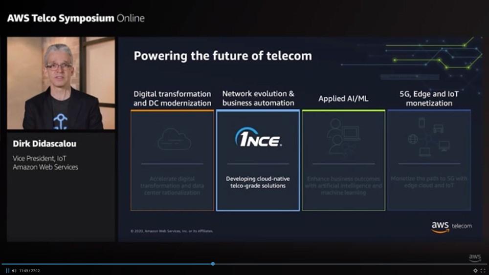 Dirk Didascalou at AWS Telco Symposium Online