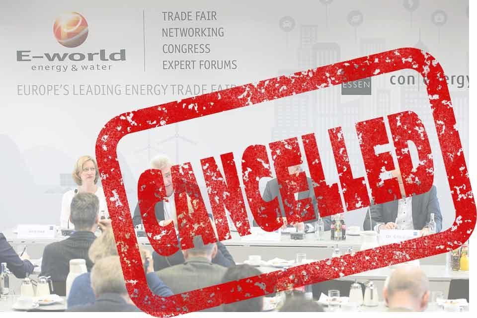 E-world 2021 cancelled